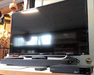 HMT021 Sony TV, Blue-Ray Player & Sound Bar
