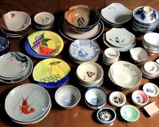 HMT034 Various Japanese Ceramic Dishes