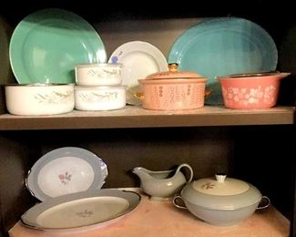 HMT070 Rose DeVille China, Vintage Pyrex & More