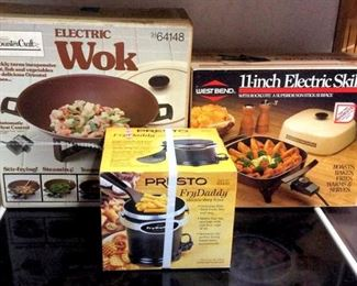 HMT113 Wok, Electric Skillet and Fry Daddy