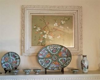A few pieces of the Rose Medallion.  Asian Painting