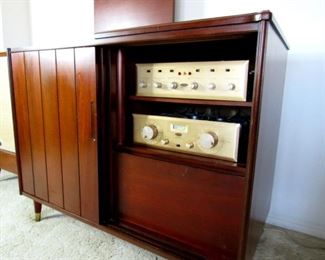 Garrard 301 Turntable Stereo Cabinet