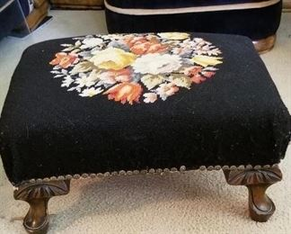 needlepoint foot stool