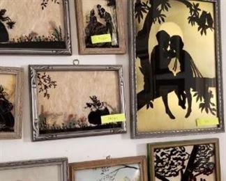 antique silhouettes prints, picture