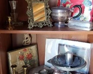 silver, table lamps,