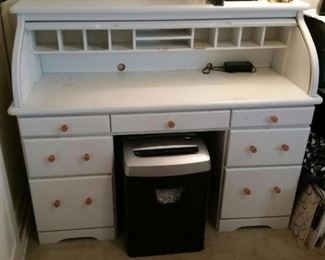 antique roll top desk painted white