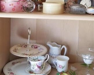 Misc antique glassware