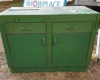 Green steel cabinet