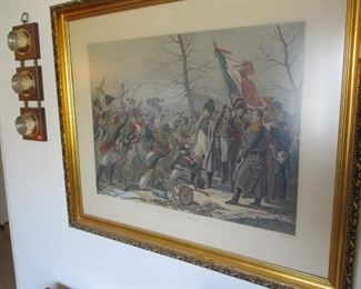 Napoleonic colored lithograph in very nice frame.