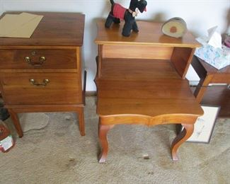 His relative made beautiful hand made cherry furniture.