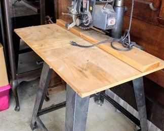 Vintage Sears Craftsman 10 Inch Radial Arm Saw with Stand