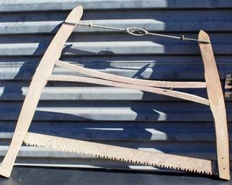 Antique Wooden Crosscut Bow Saw