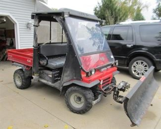 Kawasaki Mule 4X4 With Plow and Locking Differentials