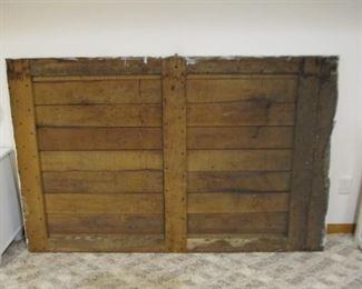Barn Door Used as a Headboard