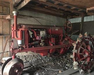 1936-37 ish McCormick Deering Farmall iron wheel tractor