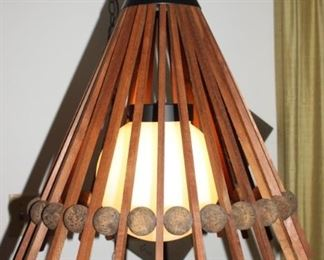 Terrific 1960's Modern Art hanging lamp.