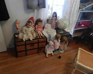 dolls and trunks