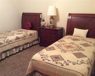 antique sleigh twin beds