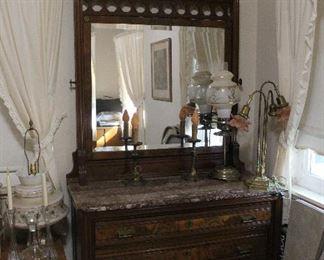 Art Deco Marble top dresser
