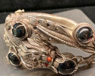 036 Sterling Dragon Bracelet