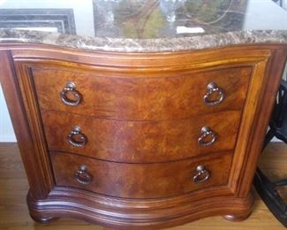 Like new Thomasville marble top cabinet