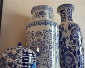 Close-up of vases
