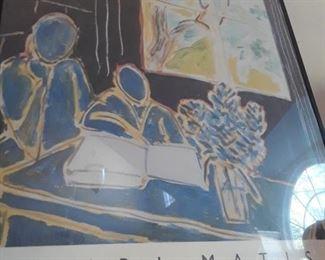 Close-up of framed poster art