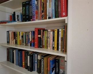 JUST PART OF THE MANY BOOKS IN HOUSE