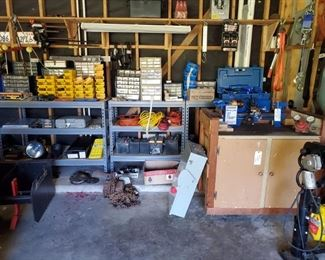 GARAGE FILLED WITH TOOLS & PARTS