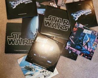 VINTAGE STAR WARS, RETURN OF THE JEDI, EMPIRE STRIKES BACK, SUPERMAN LP'S