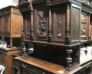 Several Beautifully carved French cabinets