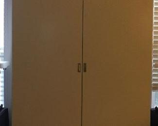White enamel armoire