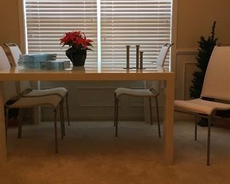 Calligaris dining table and chairs (made in Italy)