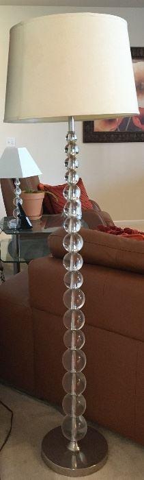 Stacked crystal floor lamp