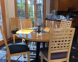 Beautiful contemporary kitchen table set.