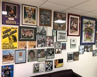 Sports icons such as Kareem Abdul-Jabbar, Mark Spitz, Jim Brown, Shaquille O'Neal,  Wilt Chamberlain, Joe DiMaggio, Muhammed Ali and more.