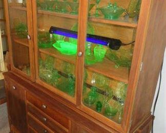 Green Vaseline Glass