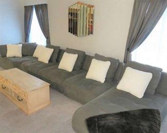 Ashley Furniture Grey Modular Sectional Sofa