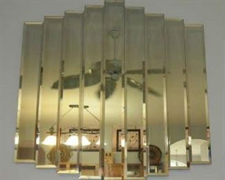 Modern 9 Panel Wall Art Mirror