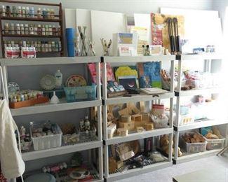 Large Assortment Arts & Craft Supplies