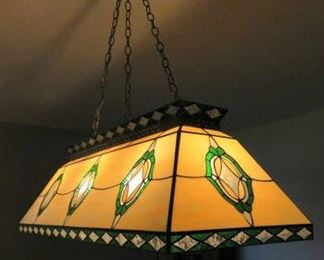Hanging Stained Glass Billiard Pool Table Light