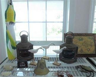 Brass Port & Starboard Oil Lanterns