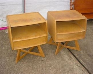 Pair of Haywood Wakefield art deco side tables