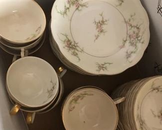 Beautiful Haviland china set with many serving pieces