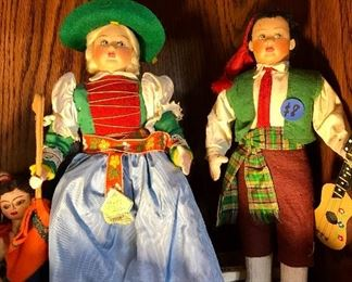 Vintage 1950s dolls from Europe