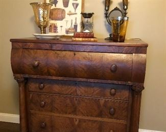 Antique Dresser with Claw Feet 45 x 26 x 46.  From 1832, signed.
