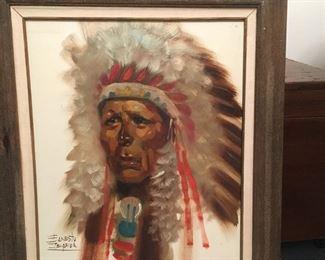 Oklahoma Chief, original oil painting by Ernesto Zepeda