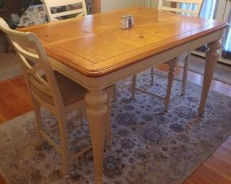"""Horton's 40""""x56"""" Pub Table with 16"""" leaf and 6 chairs."""
