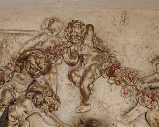 Large Wall Hanging with Cherubs  *VERY HEAVY*