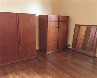 Nordisk Andels-Eksport Teak Cabinet, Chest of Drawers and Mirror (sold separately)